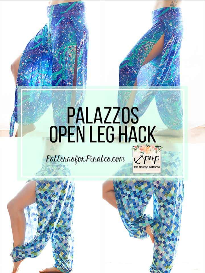 Palazzos Open Leg Hack - Patterns for Pirates